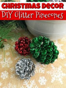 Pine Cone Crafts – Pinecone Christmas Decorations, Easy DIY Glitter Pinecones