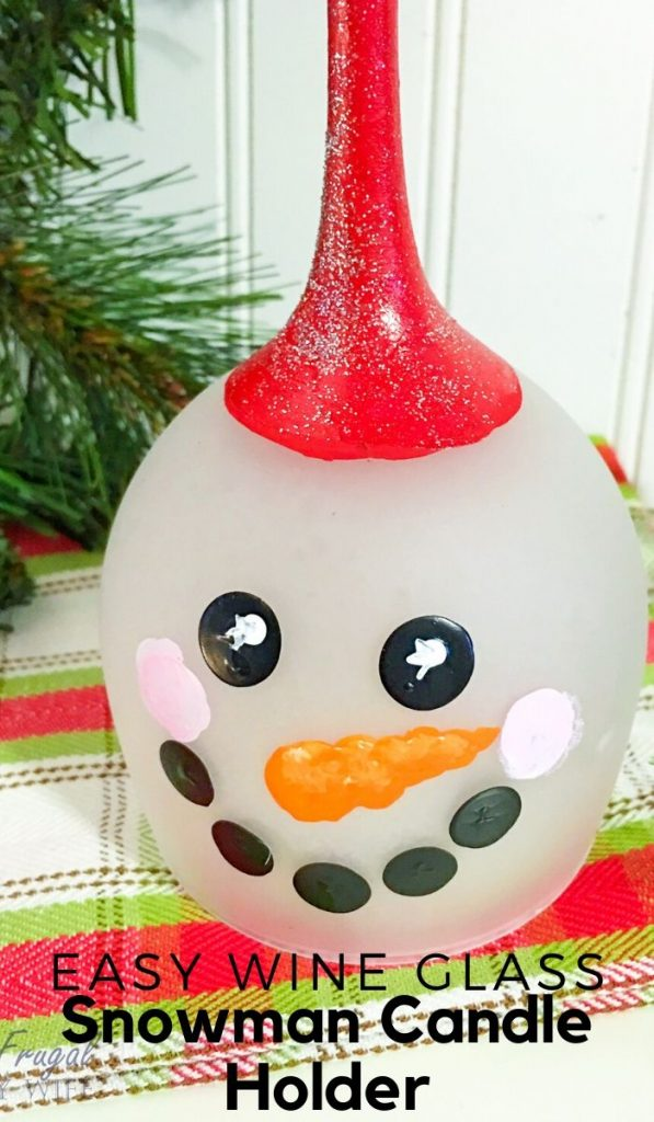 If you are looking for DIY votive candle holders I suggest this snowman wine glass, candle holder. It is easy to make and is perfect for any decor! #frugalnavywife #snowman #snowmandecor #candleholderdir #easydiy #wintercrafts #wineglassdiy #christmasdecor | Christmas Decor | Winter Decor | Snowman DIY | Snowman Decor | Candle Holder DIY | Easy DIY Ideas | Winter Crafts | Wine Glass DIY Ideas