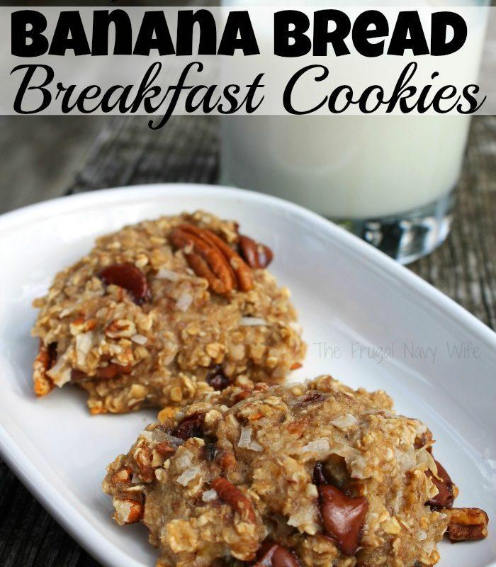 Easy Banana Bread Breakfast Cookies