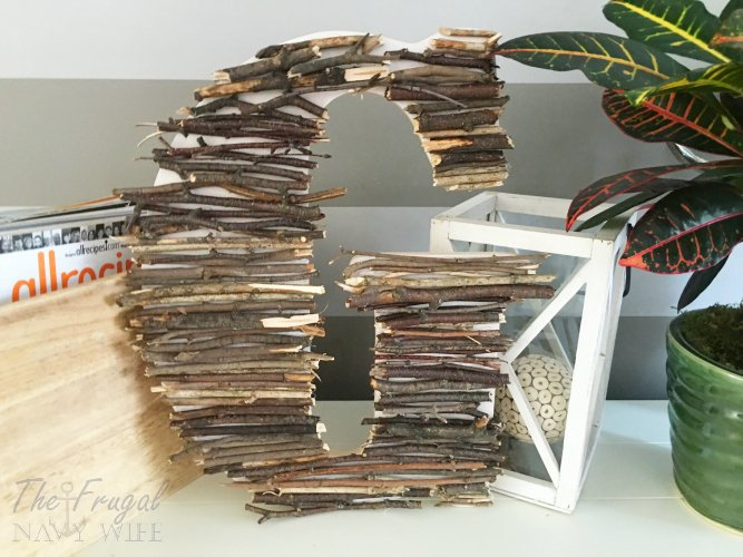 looking for an easy diy decor idea this easy twig letter decor is perfect for - Letter Decor