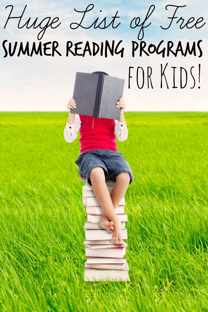 This huge list of free summer reading programs for kids will help keep your kids reading and they can earn everything from money to theme park tickets.