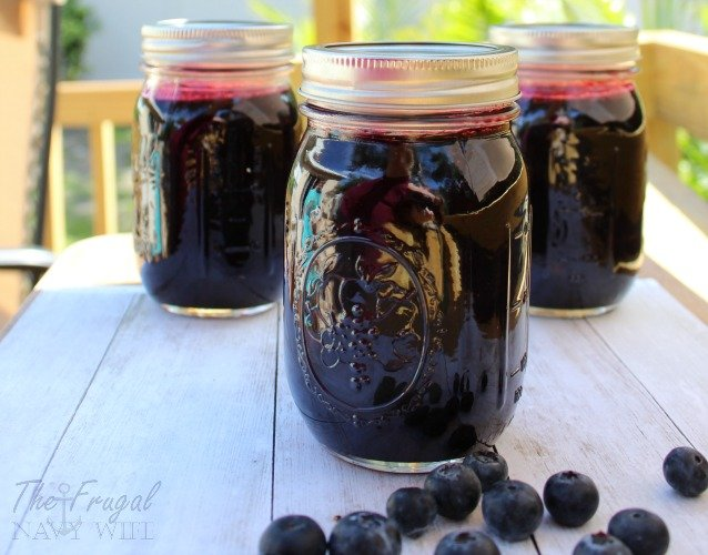 how to make blueberry jam with frozen blueberries