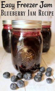 Freezer Jam – Easy Freezer Blueberry Jam Recipe