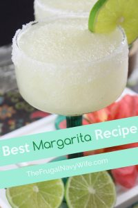 If you are on the hunt for the best margarita recipe then look no further! This slushie margarita recipe is perfect for summer! #frugalnavywife #margarita #slushies #easyrecipe #drinks #adultbeverages | Easy Drinks | Easy Margaritas | Margarita Recipe | Margarita Slushies | Easy Adult Beverages | Margaritas