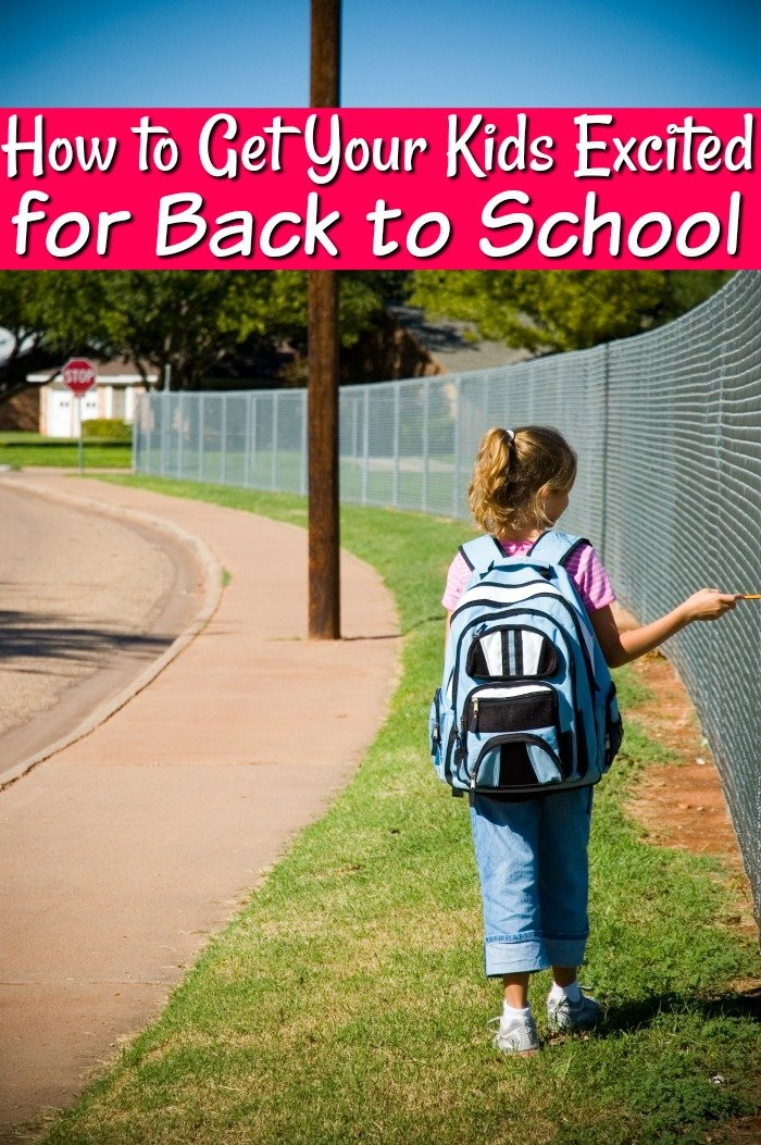 Don't let your kids get bummed about heading back to school! These fun tips will get them as excited as you are for them to head back to school!