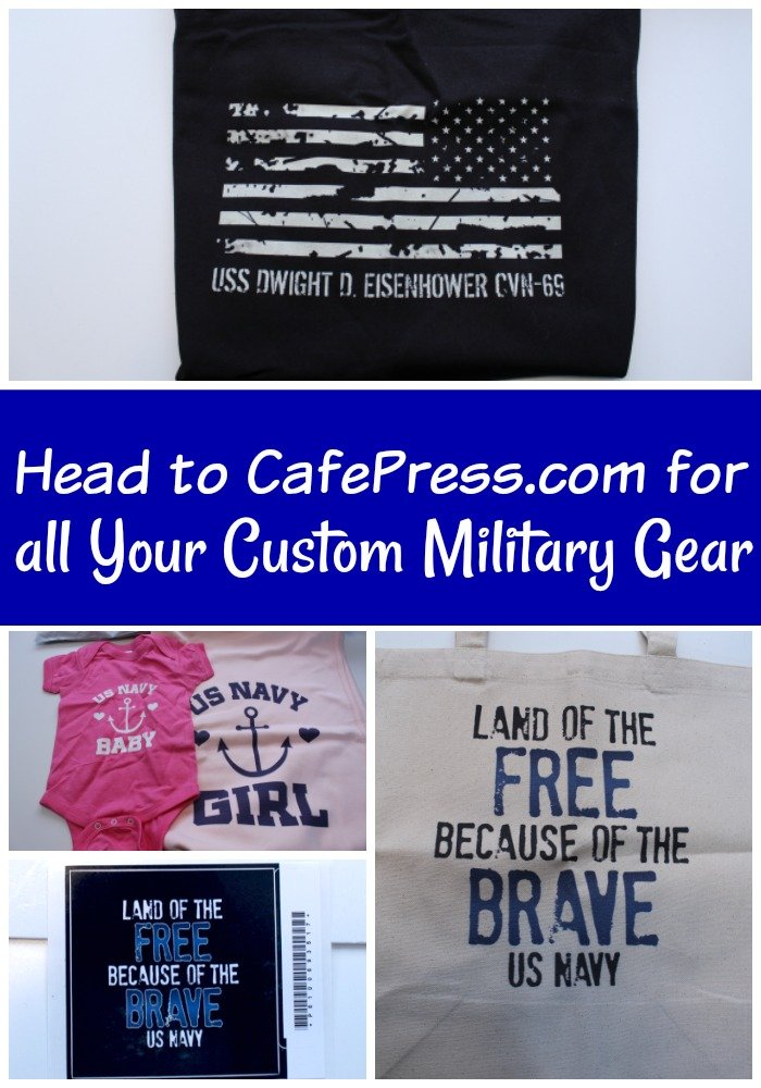 """1543d3b32 I'm always the wife wearing the """"Proud Navy Wife"""" shirts. CafePress is my  go to site for anything that I need for our military gear."""