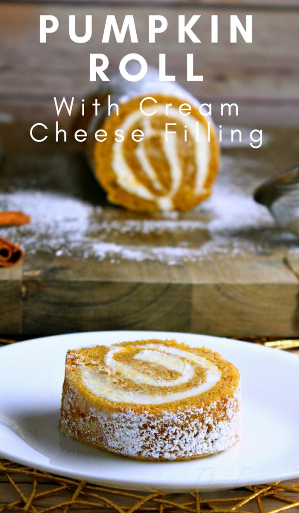 My pumpkin roll recipe is filled with cream cheese giving it an even richer taste! This is one of my favorite pumpkin recipes! #pumpkinrecipe #fallrecipe #pumpkinroll #autumn #frugalnavywife #dessert #dessertrecipe | Pumpkin Recipes | Fall Recipes | Dessert Recipes | Autumn Recipes | Pumpkin Roll Recipes | Easy Recipes for Fall