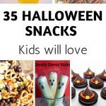 We do theme snacks and food for the whole week of Halloween! These 35 Halloween snack ideas for kids are ones your kids will love every year. #halloween #snacks #kids #frugalnavywife | Halloween Themed Snacks for kids | Halloween Recipes | Halloween Treats |