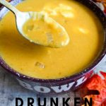 Delicious and hearty this drunken pumpkin soup recipe hit all the requirements for good fall fare. If you have not yet, you really should try this recipe. #pumpkinrecipe #souprecipe #fallrecipe #frugalnavywife #foodusingbeer | Fall Recipes | Soup Recipes | Pumpkin Soup Recipes | Pumpkin Recipesv