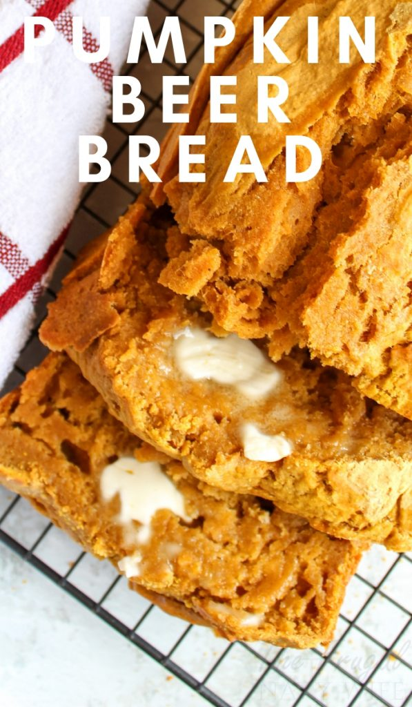 One of the best features of beer bread is that it requires no kneading or long rising times. Pair them together to get this easy pumpkin beer bread recipe. #beerbread #pumpkinbread #pumpkinrecipes #frugalnavywife #bread #recipe #pumpkin | Beer Bread Recipes | Pumpkin Recipes | Pumpkin Bread Recipes | Fall Recipes | Bread Recipes | Easy Recipes |