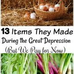 Did you know there are many items then made during the Great Depression and we now buy? Head back to basics with these items to save money on items like.... #frugalnavywife #frugaldiy #frugalliving #greatdepression | Saving Money | Great Depression Hacks | How to Save Money | Frugal Living | Frugal Living Tips