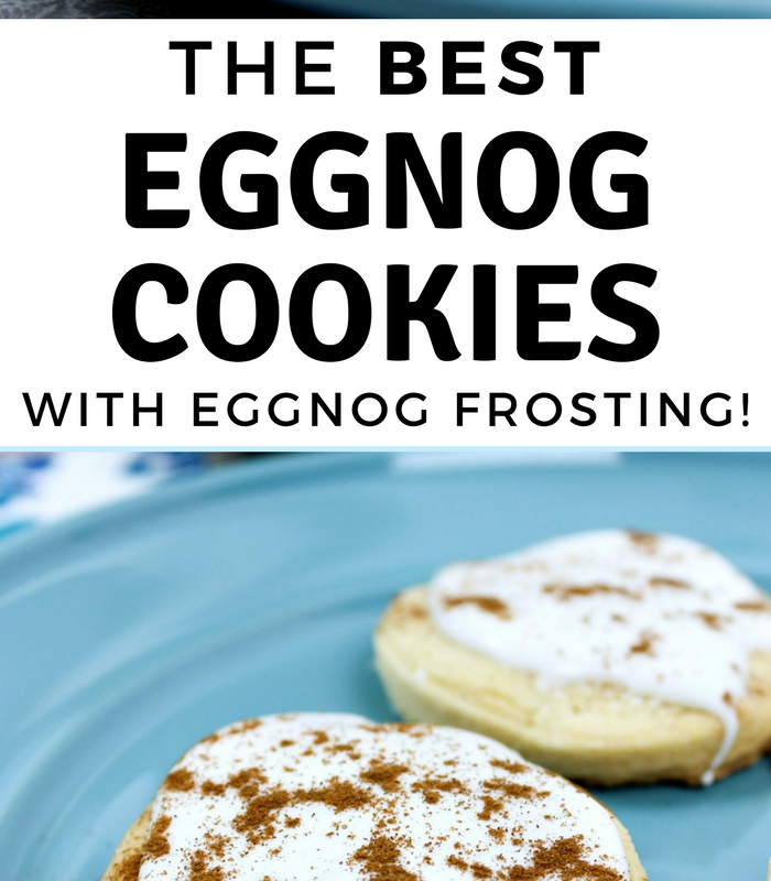 The Best Eggnog Cookies Recipe with Eggnog Frosting