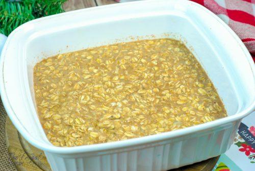 Eggnog oatmeal - homemade eggnog