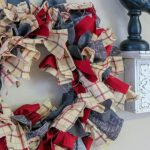 Let me show you how to do this super simple Farmhouse Rag Wreath DIY. This is home decor at its finest and it won't cost you an arm and a leg. #diy #ragwreath #wreathdiy #frugalnavywife   Wreath Crafts   DIY Wreaths   Farmhouse Decor   Farmhouse Wreath   Home Decor   Wreaths