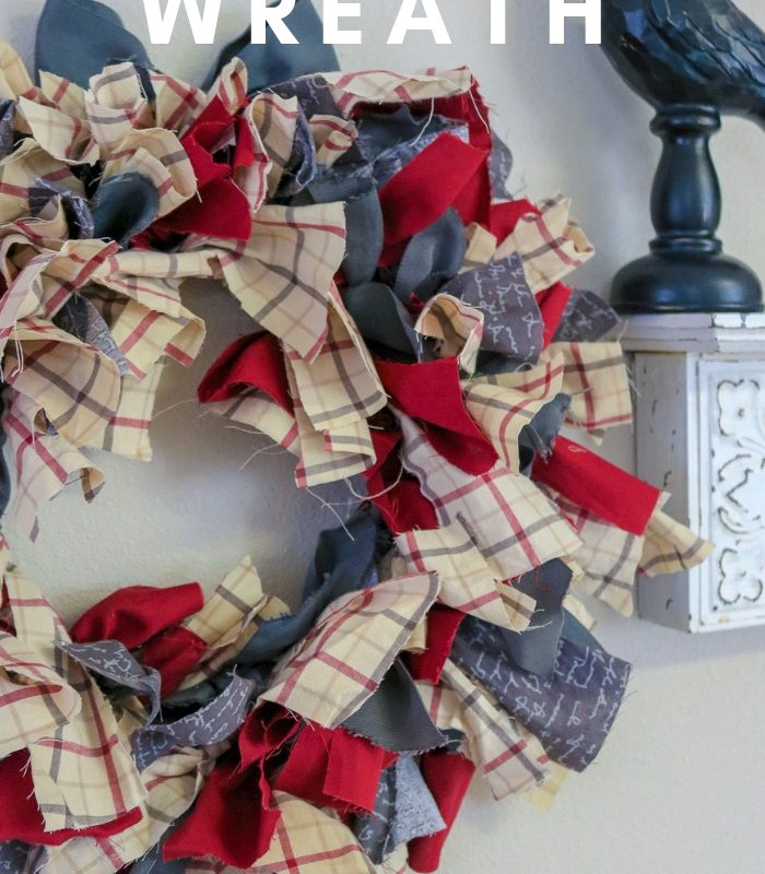 Farmhouse Rag Wreath DIY
