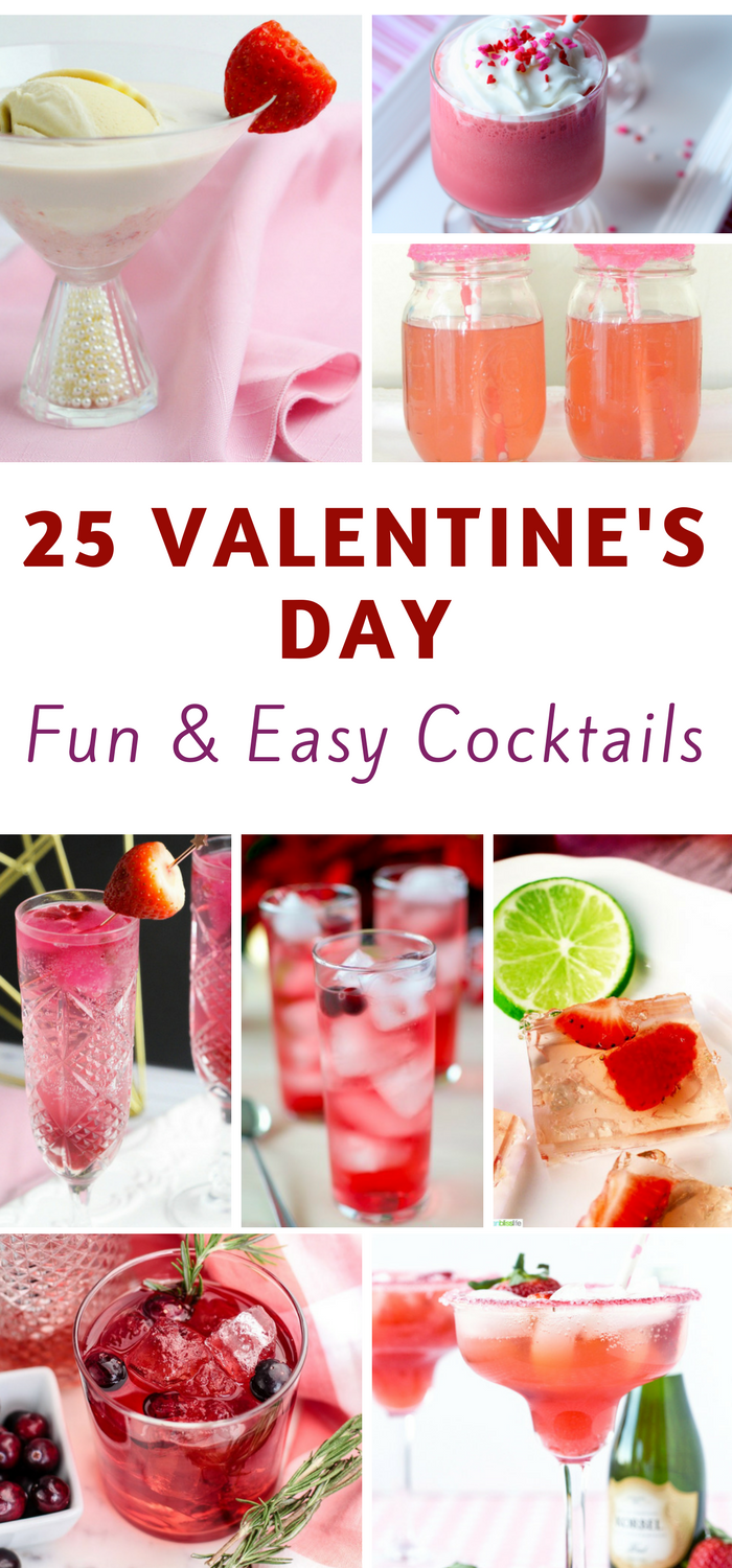 25 Valentines Day Cocktails You Will LOVE!