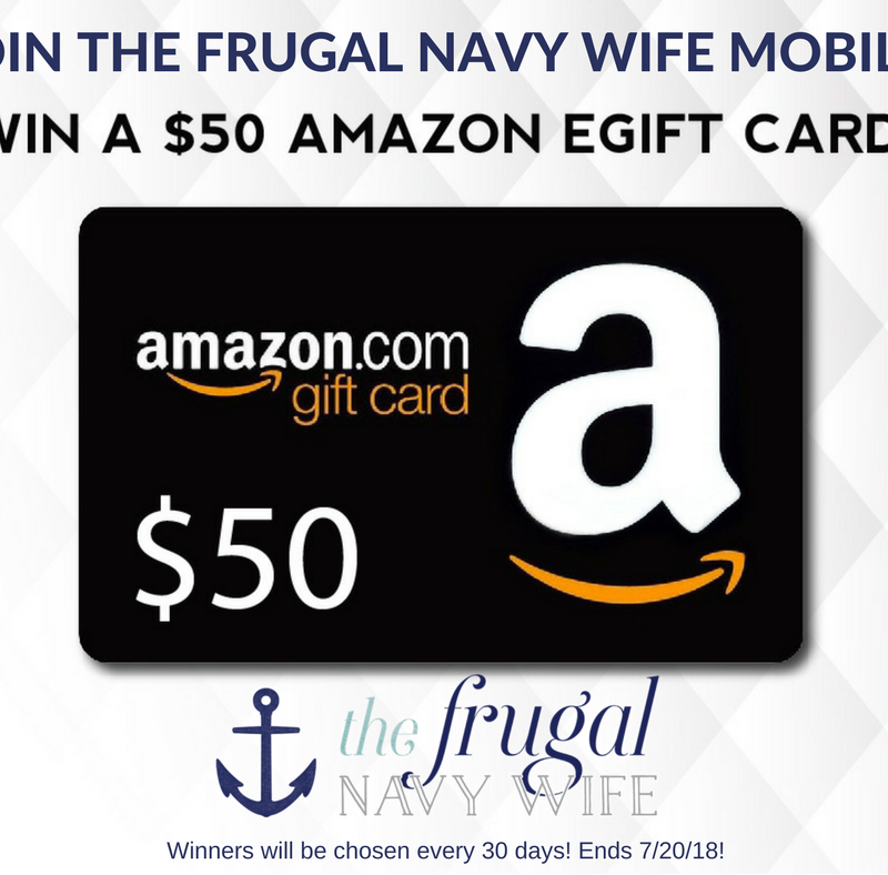Join My Mobile List & You Could Win a $50 Amazon Gift Card