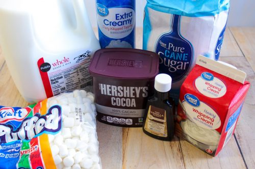 Hershey Kiss Hot Chocolate Recipe Ingedients