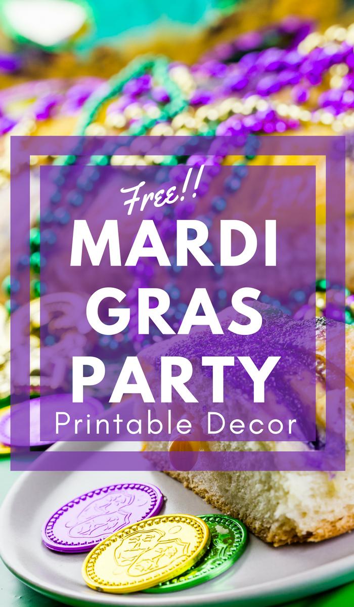 mardi gras party ideas + free mardi gras printable decor!