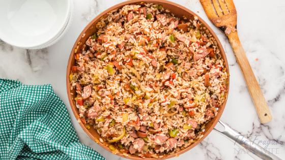 Sausage and Ham Easy Jambalaya Recipe