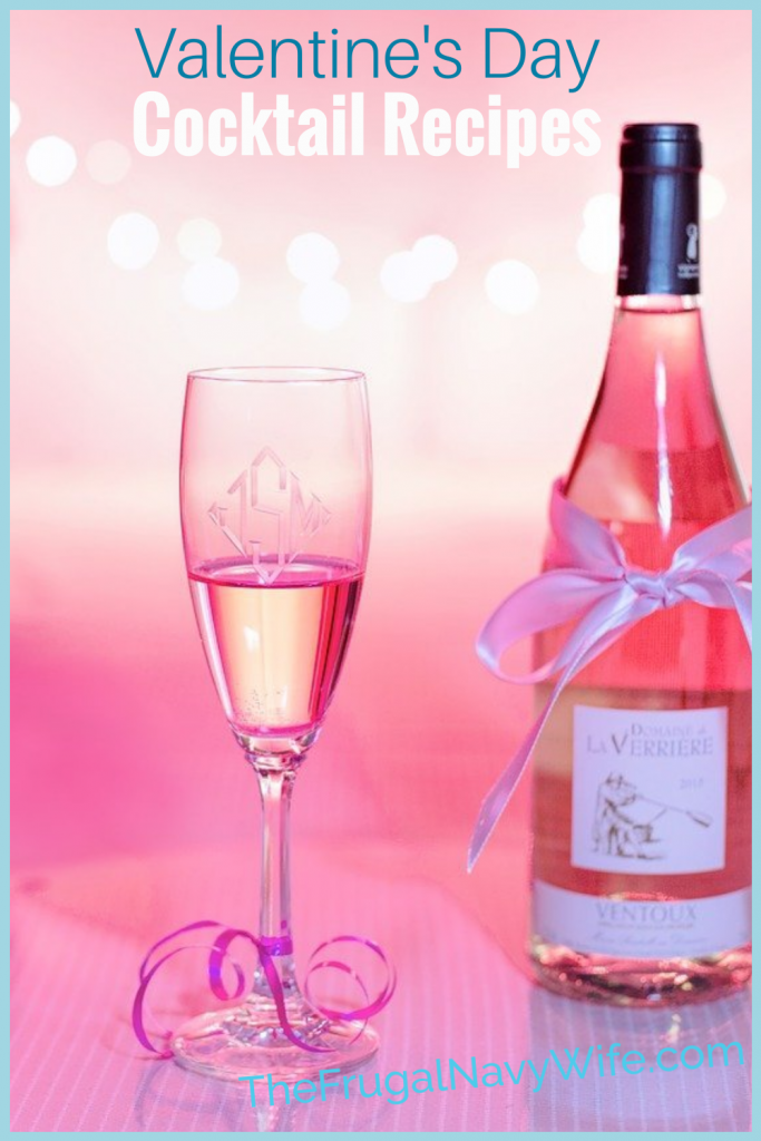 Huge party and a cozy night at home for Valentines Day make sure to try out some of these Valentine's Day cocktails! #frugalnavywife #valentinesday #cocktailrecipes #adultbeverages #yummyrecipes #easycocktails | Easy Cocktail Recipes | Cocktail Recipes | Valentine's Day Cocktails | Yummy Drink Recipes | Drink Ideas