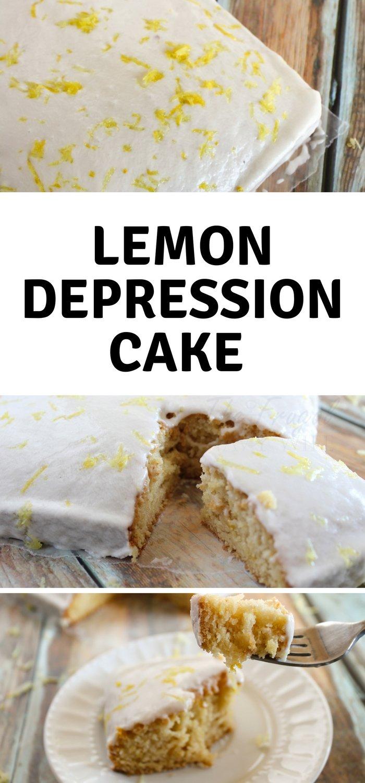 Lemon Depression Cake