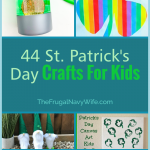 Festive and hands-on activities for kids this St. Patricks day. Here you will find 44 of the best St Patrick's day crafts for kids. #frugalnavywife #stpatricksday #craftsforkids #easycrafts #stparticksdaycrafts #rainbowcrafts #leprechauncrafts | St. Patricks Day Crafts for Kids | Easy Crafts for Kids | Rainbow Craft Ideas | Leprechaun Crafts | St. Patrick's Day Ideas