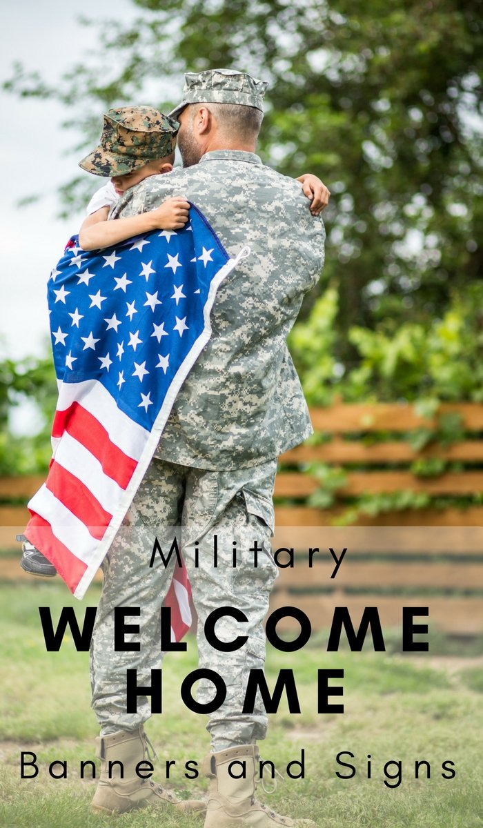 Free Military Welcome Home Banners And Signs The Frugal Navy Wife
