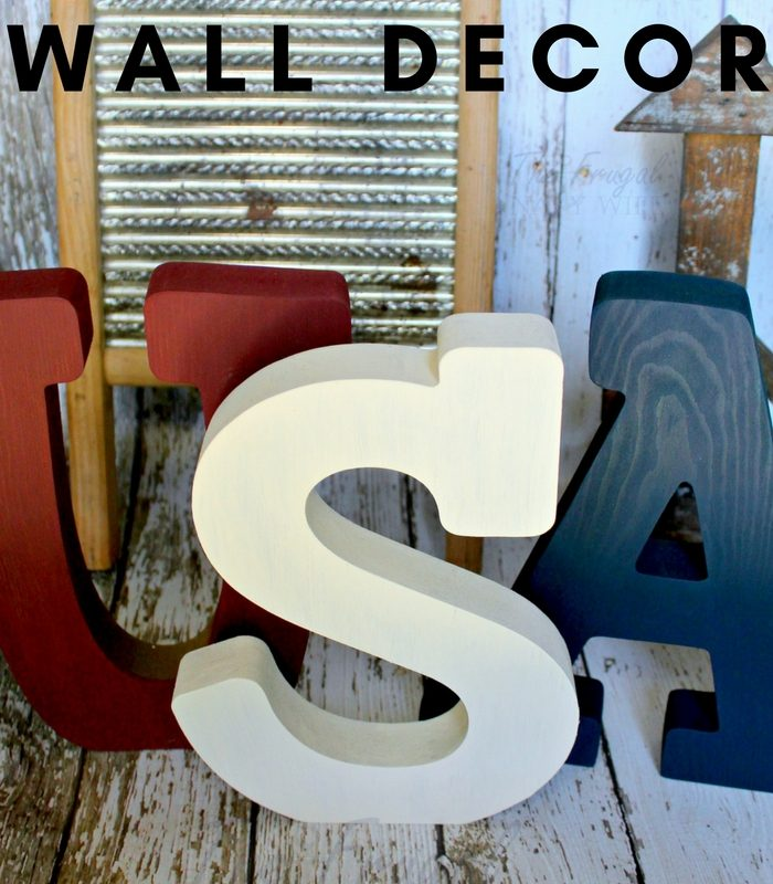 DIY USA Letter Wall Decor