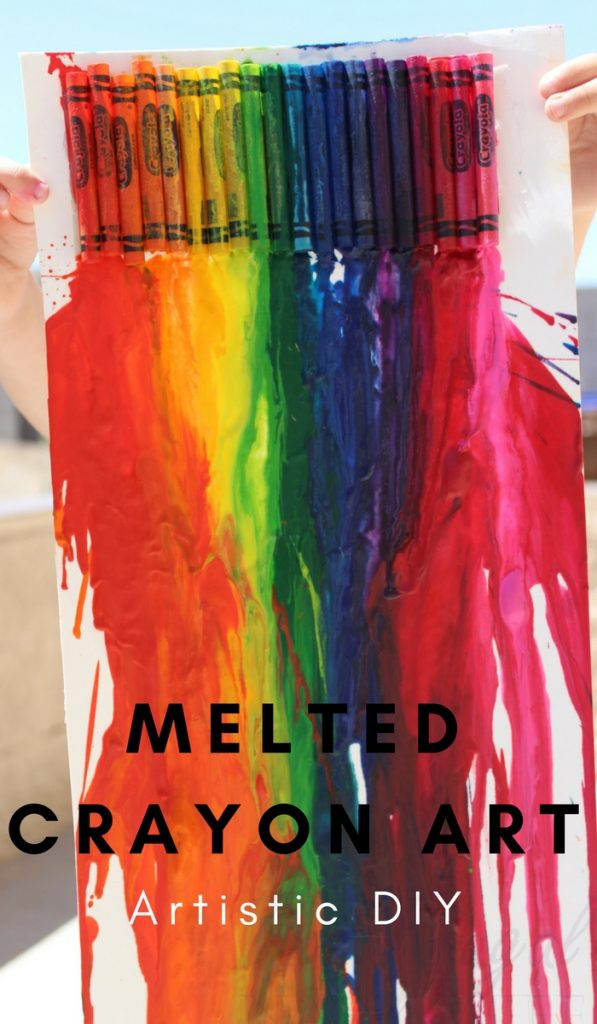 Melted crayon art diy for kids the frugal navy wife solutioingenieria Image collections