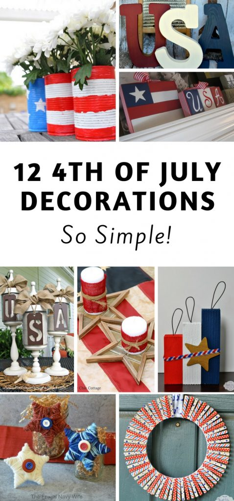 Diy 4th Of July Decorations To Make The Frugal Navy Wife