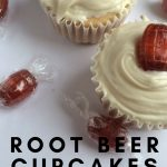 These Root Beer Cupcakes are super easy to make and yummy. Combine 2 great things into one delicious dessert. Root beer and Cupcakes! Everyone wins. #cupcakes #desserts #rootbeer #thefrugalnavywife | Dessert Recipe | Cupcake Recipe | Root Beer Recipes |