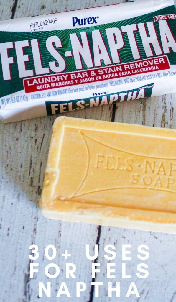 This little bar of soap will change your life. It's so inexpensive. Check out these uses for Fels Naptha Soap that are life-changing... #felsnaptha #usesfor #frugalliving #frugalnavywife