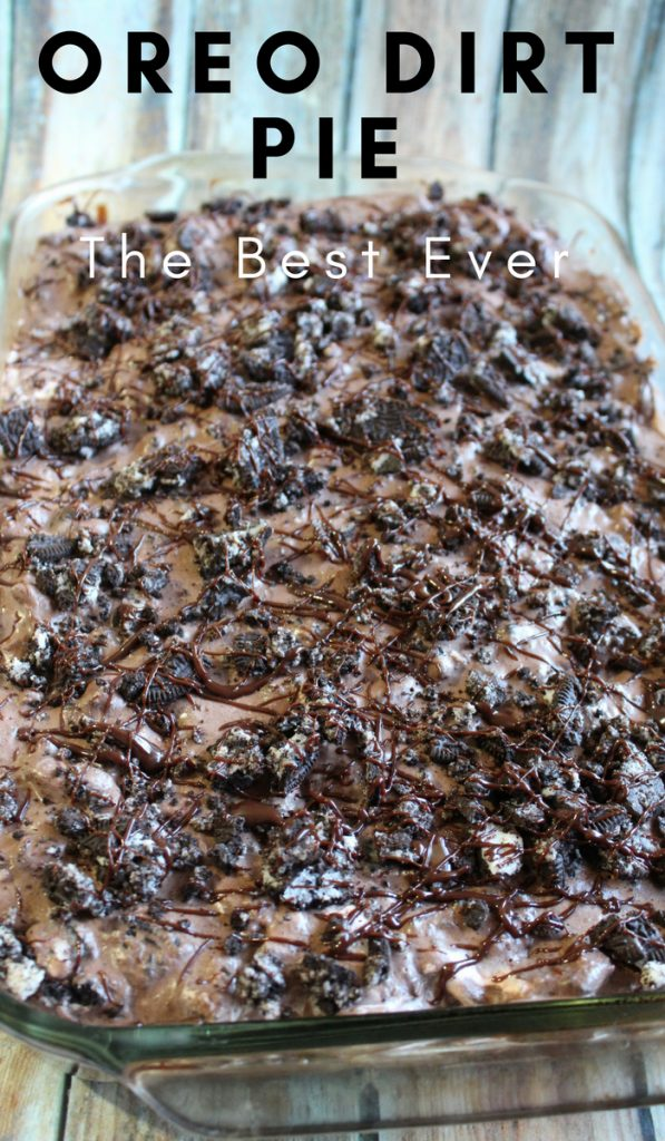 Oreo Dirt Pie is the most addicting thing in the world. Don't Believe me? Give it a try. This pie will leave you wanting more so make 2 just in case. #oreo #pie #chocolate #dessert #frugalnavywife   Dessert Recipes   Oreo Recipes   Pie Recipes   Chocolate Recipes