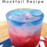 Put together this Stars and Stripes Mocktail Recipe with juice, perfect for kid and adults, the stripe pattern is perfect for impressing your friends! #mocktail #drinkrecipe #patriotic #thefrugalnavywife | Patriotic Recipe | Red White Blue Recipes | Mocktail Recipes |