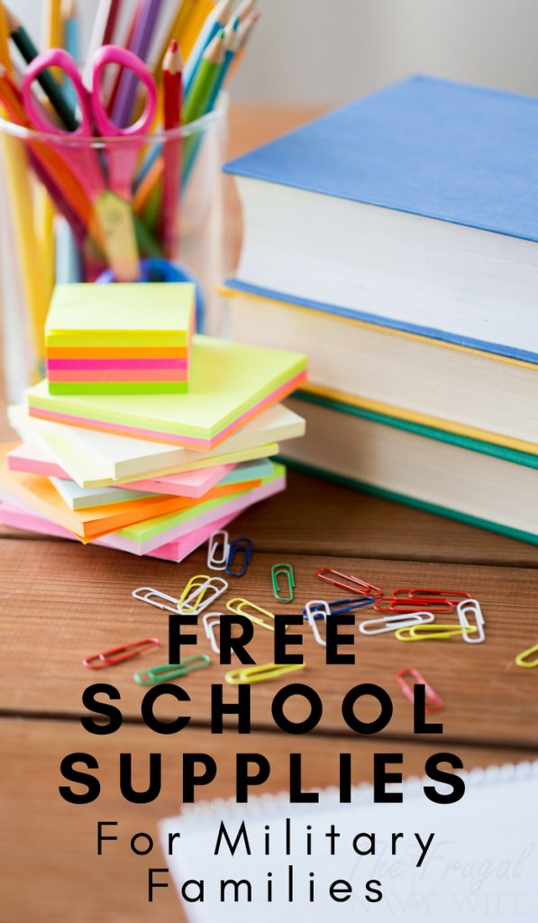 Are you a military family trying to get a little help for back to school or even free school supplies? Here are a few back to school help resources for you. #backtoschool #schoolsupplies #military #frugalnavywife | Free School Supplies | Back To School | Military Resources