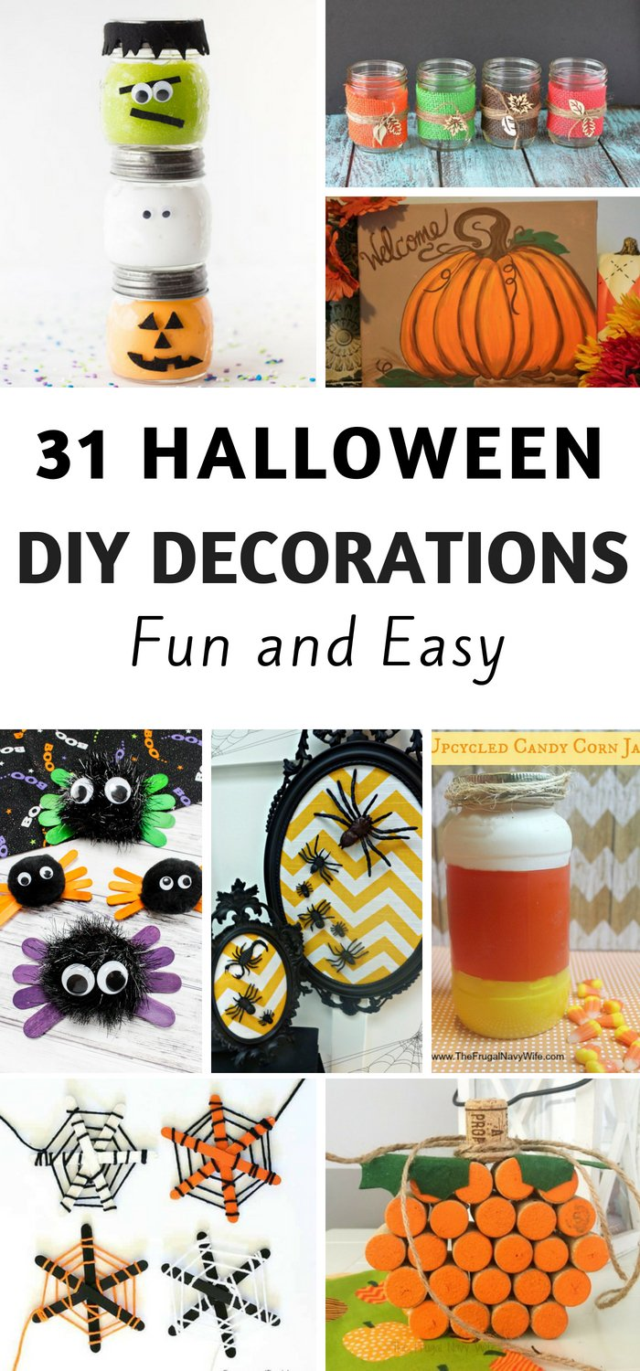 31 fun and easy diy halloween decorations | the frugal navy wife