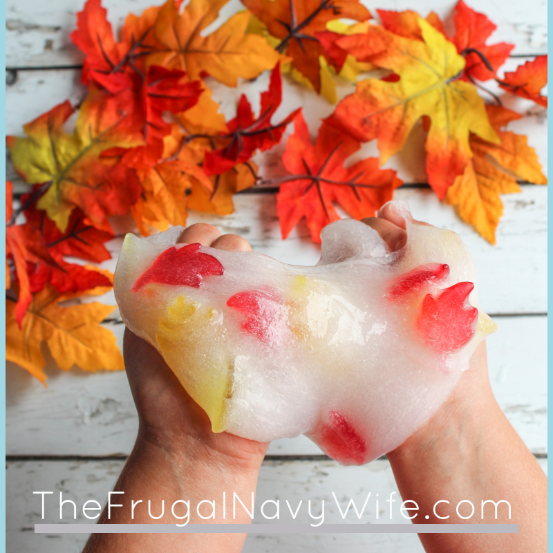 Fall Slime Using Fall Leaves – No Borax!