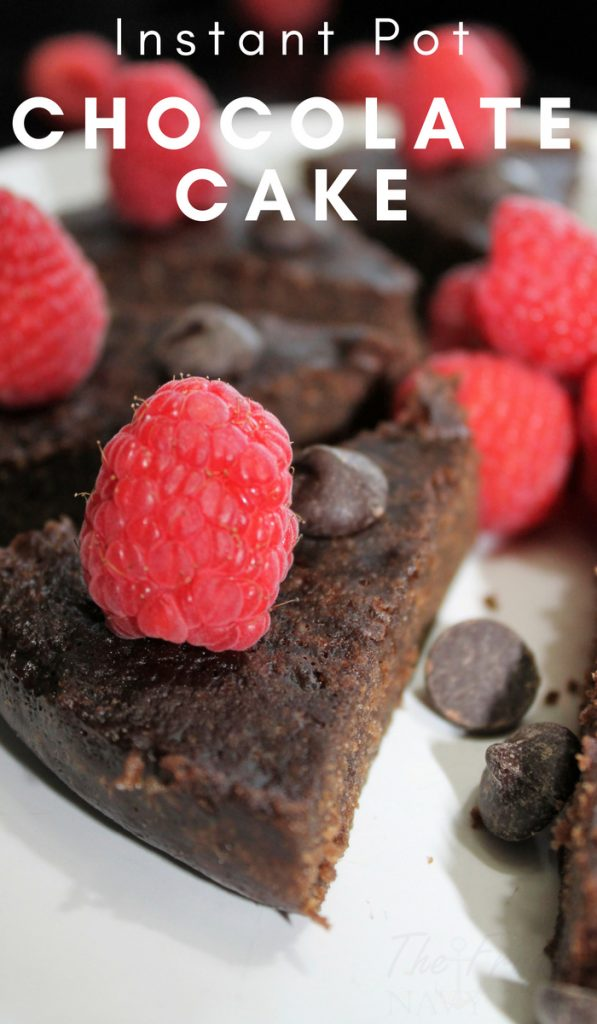 I recently discovered desserts in the instant pot and this Instant Pot Chocolate Cake is one of my favorites so far! Try it for yourself. #instantpot #dessert #chocolatecake #chocolate #frugalnavywife | Instant Pot Recipe | Instant Pot Dessert | Dessert Recipe | Chocolate Recipe | Cake Recipe
