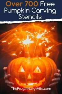Want to make your home stand out on Halloween? Here are over 700 Free Pumpkin Carving Stencils for you can print out and carve your pumpkin with. #halloween #carvingpumpkins #freestencils #frugaldiy #frugalnavywife | Halloween | Jack O Lanterns | Pumpkin Carving Stencils | Carving Pumpkin Patterns | DIY Pumpkin Carving | Easy Patterns for Kids