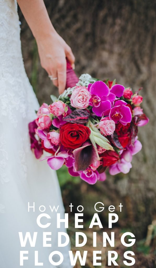 Wedding flowers are one of those things that can make or break your wedding. Go on the hunt for cheap wedding flowers. Let me show you. #weddings #wedingflowers #frugalwedding #saveonflowers #frugalnavywife | Frugal Weddings | Save on Flowers | How to get Cheap Wedding Flowers | Budget Weddings