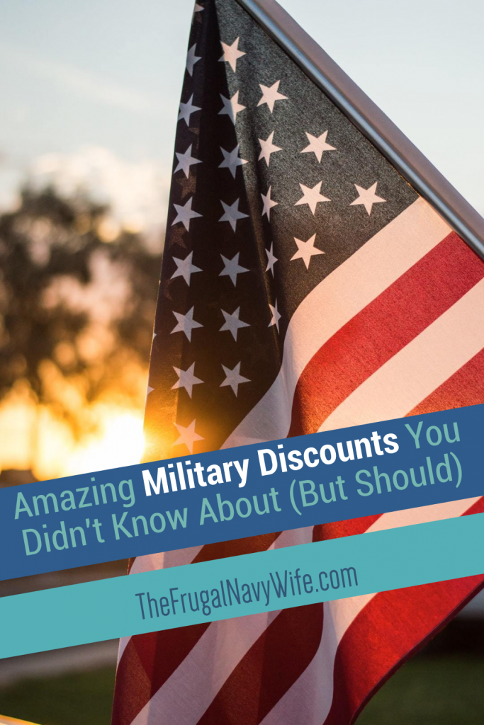 You don't need to fret about saving money. You'll want to check out these amazing military discounts. Saving money is easier than ever! #savingmoney #frugalnavywife #militarydiscounts | Military | Budget | Discounts | Disabled Veterans | Veterans | Vets