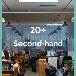 When you are trying to save money the smartest thing you can do is thrift shop. Here are over 20 Things to Buy Second-hand to save money. #frugalnavywife #thriftstores #secondhandshopping #savemoney #frugalliving | Frugal Living Tips | Saving Money Hacks | Save Money on Clothes | How to Cut Spending |