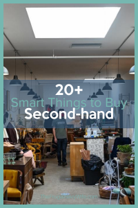 When you are trying to save money the smartest thing you can do is thrift shop. Here are over 20 Things to Buy Second-hand to save money. #frugalnavywife #thriftstores #secondhandshopping #savemoney #frugalliving   Frugal Living Tips   Saving Money Hacks   Save Money on Clothes   How to Cut Spending  