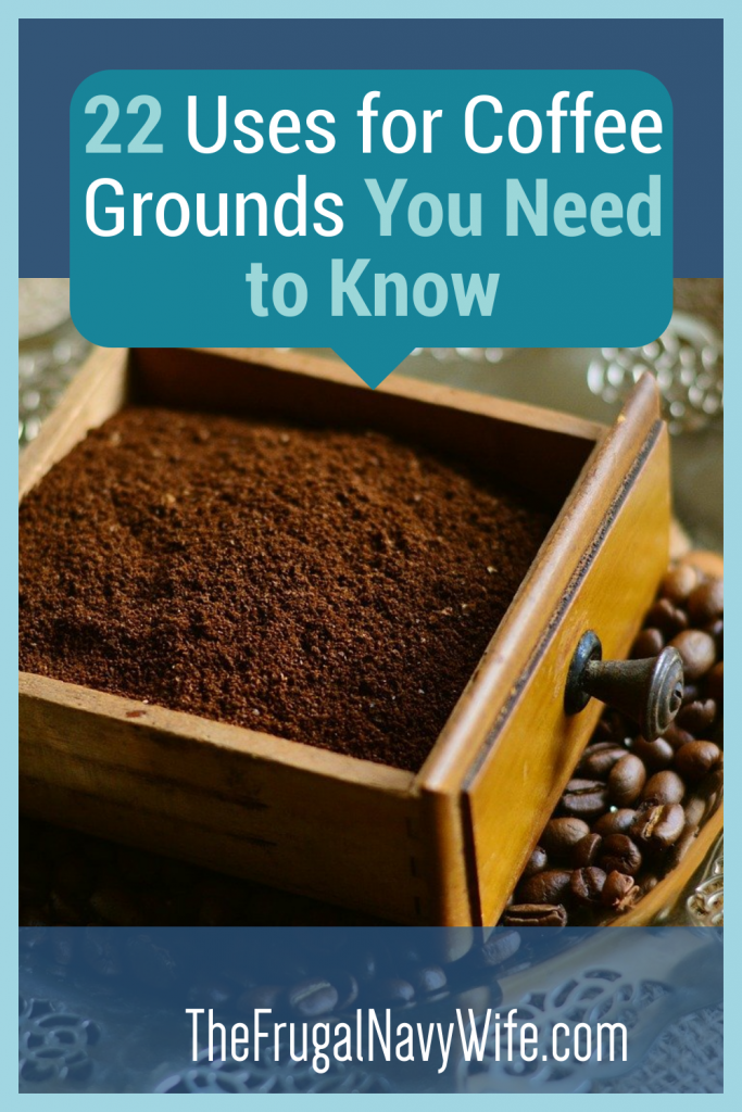 No one knows what to do with coffee grounds after they are used. However, these uses for coffee grounds will help you out so much! #coffeegrounds #usesforcoffeegrounds #frugalnavywife #frugallife | Uses for Coffee Grounds | How to use up coffee grounds | Using coffee grounds around the house | Gardening Hacks | Beauty Hacks | Frugal Living | Saving Money Hacks