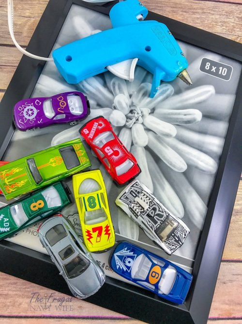 Upcycled Hot Wheels Cars Picture Frame Idea