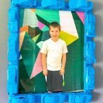 The perfect picture frame idea for a Lego-themed room. Also makes for a great gift. See how to make this in simple to follow steps. #lego #diy #pictureframeidea #legotheme #frugalnavywife   Lego DIY   Lego Theme Picture Frame   Easy DIY Project  