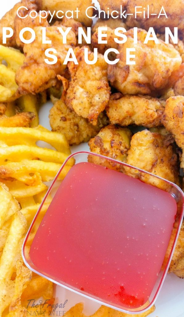 ThisCopycat Chick Fil A Polynesian Sauce is three simple ingredients and super quick to make right in your own kitchen! The Best ever! #copycat #chickfila #recipe #frugalnavywife | Chick Fil A Recipes | Copycat Recipes | Polynesian Sauce Recipe | Sauces Recipes