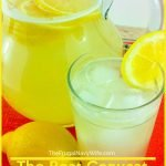 This copycat Chick Fil A Lemonade is just the newest recipe on our list. See how we make this refreshing drink in just mere minutes. #copycaterecipe #chickfilarecipe #lemonade #drinks #frugalnavywife #chickfila | Chick Fil A Recipes | Copycat Recipes | Lemonade Recipes | Drink Recipes | Easy Beverage Recipes