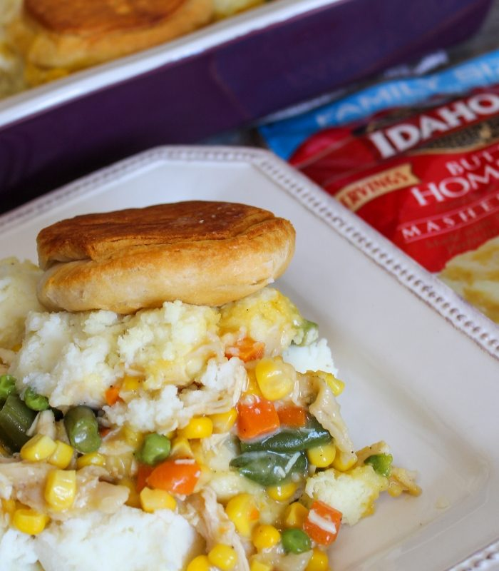 Easy Chicken Pot Pie Casserole + Tips to Making Dinner When Life is Busy